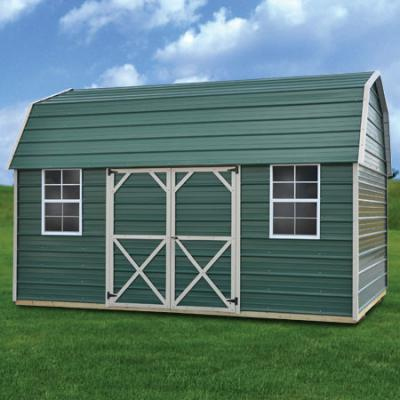 Derksen Buildings metal side lofted barn A+ Sheds and Carports San Antonio, Texas